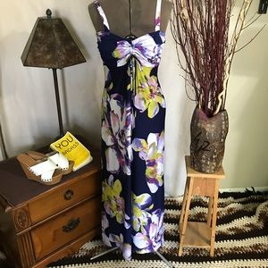 Jonathan Martin Maxi Dress Purple Floral size M